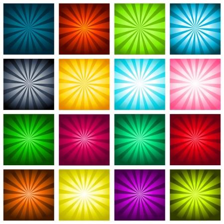방사상: 다채로운 파열 배경