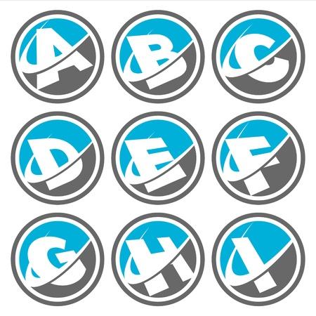 letter i: Swoosh Alphabet Icons Set 1