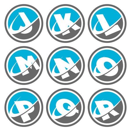 Swoosh Alphabet Icons Set 2 Vector