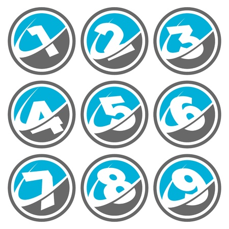 Swoosh Number Icons Stock Vector - 16642814