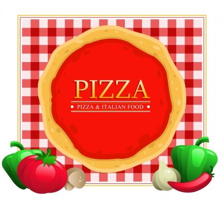 Pizza Menu Restaurant Illustration
