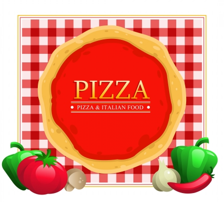 Pizza Menu Restaurant Ilustracja