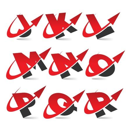 l dynamic: Swoosh Arrow Alphabet Icons Set 2 Illustration