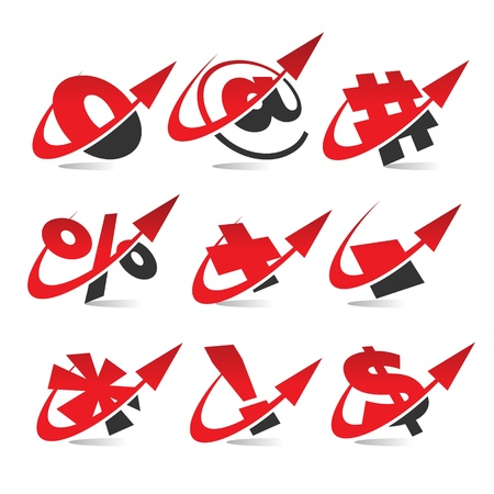 Swoosh Arrow Symbol Icons Stock Vector - 17109742