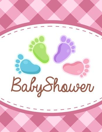 pie bebe: bebé invitación de la ducha