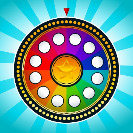 roulette wheels: Colorful Wheel of Fortune Illustration