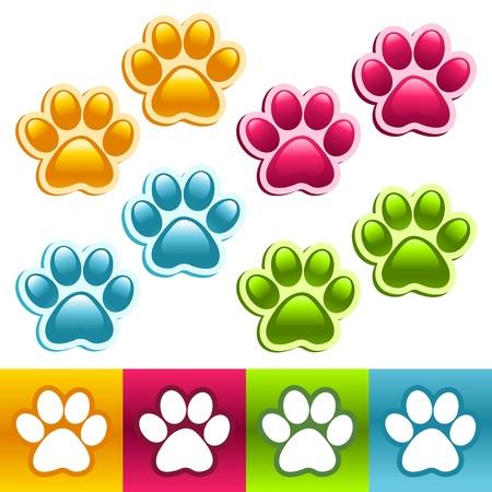 zwierzę: Kolorowe Paws zwierzÄ™tach Ilustracja