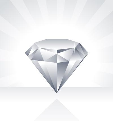 Shiny Diamond Illustratie Vector Illustratie