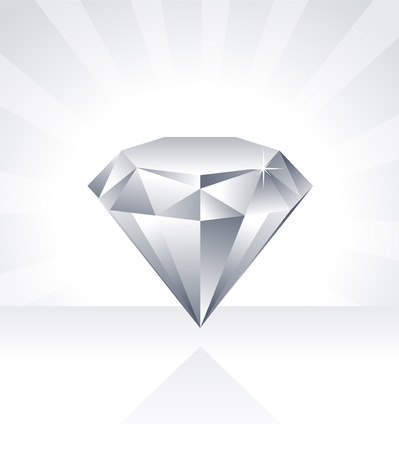 Shiny Diamond Illustration Illustration