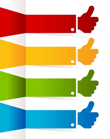 validate: Colorful Thumbs Up Banners