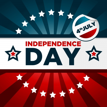 Patriotic Independence Day Banner Vector