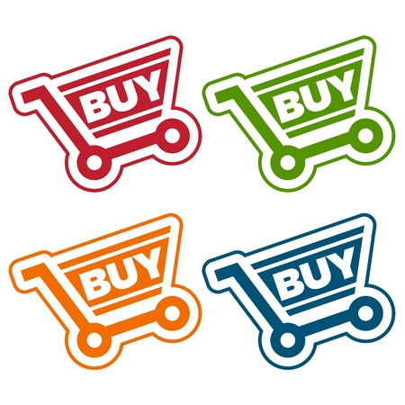 Shopping Cart Tags Stock Vector - 19057478