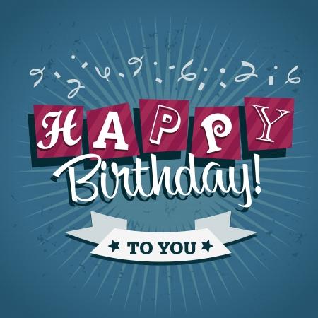 card: Birthday greeting card with confetti