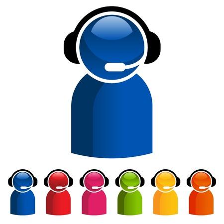 Vector kleurrijke set van de klantenservice iconen Stock Illustratie