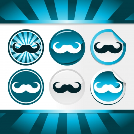 Buttons and stickers for November awareness month of prostate and other male cancers