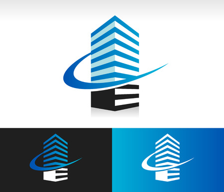scale icon: Balance scale icon with swoosh graphic element