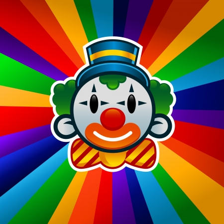circus clown: Colorful clown  Illustration