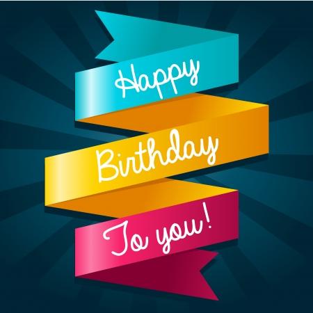 Cumpleaños tarjeta de felicitación colorida feliz