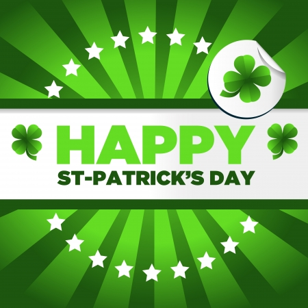 Saint Patrick s Day background with green clovers Vector