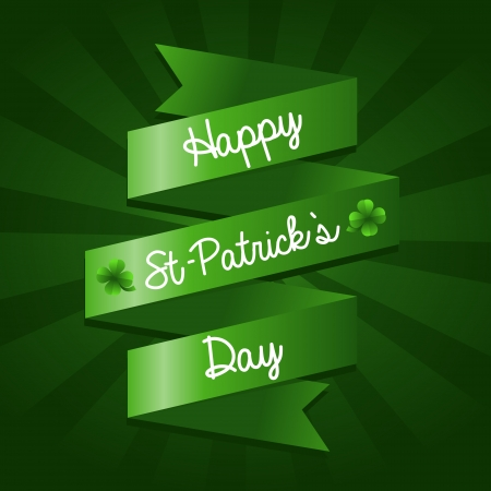 saint patrick's day: Saint Patrick s Day background with green clovers