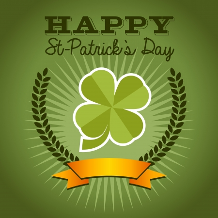 Saint Patrick s Day background with green clover Stock Vector - 25332386