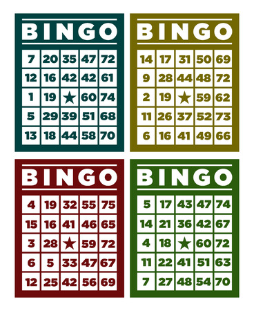 Set of retro bingo cards