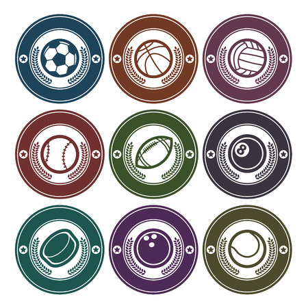 Set of sport balls emblems Vector