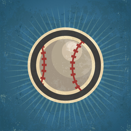 grunge: Retro grunge baseball illustration Illustration
