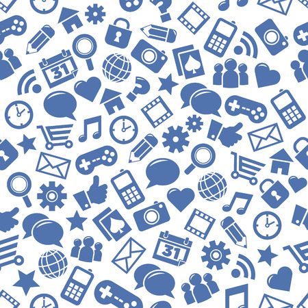 Seamless patterns of social media icons Illustration