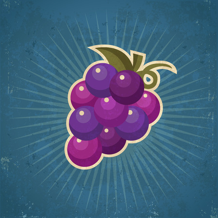 grunge: Retro grunge grape illustration