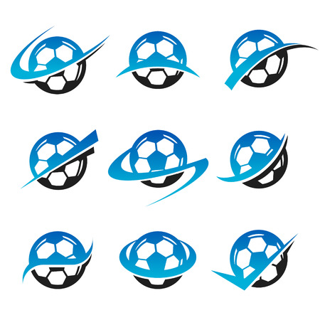 Set of soccer ball icons