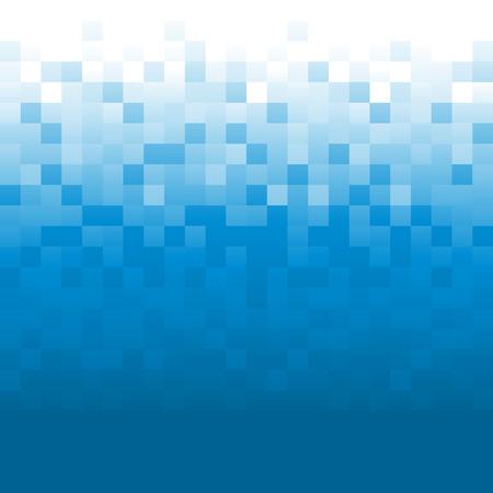 digital background: Blue background with pixels Illustration