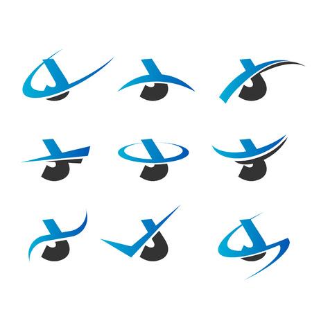 letter j: Set of icons with the letter J Illustration