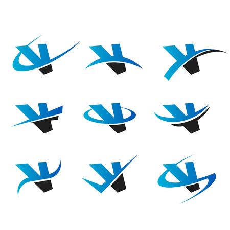 letter v: Set of icons with the letter V