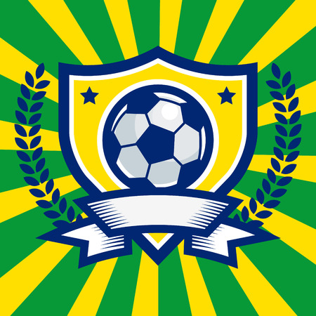 Soccer Emblem Иллюстрация