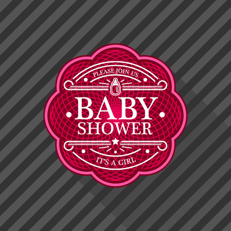Pink baby shower invitation card for girls