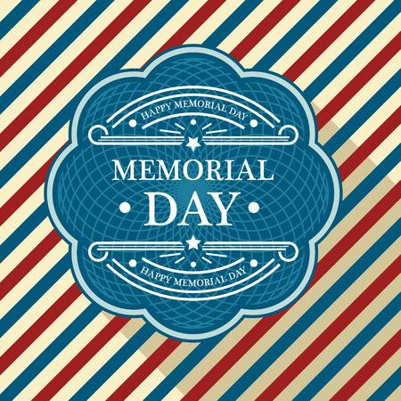 Memorial day patriottische achtergrond Stock Illustratie