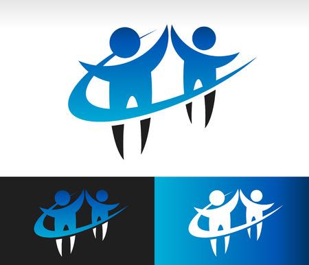 Swoosh Teamwork Icon
