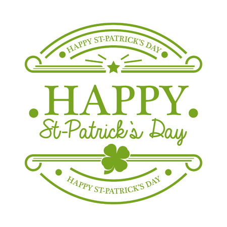Saint Patricks Day emblem isolated on white Vector