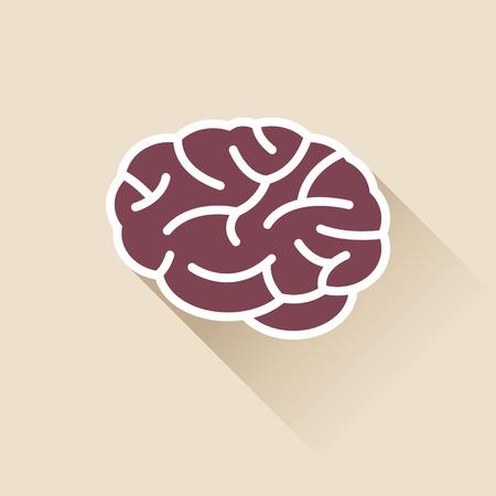 simple: Simple Brain Icon