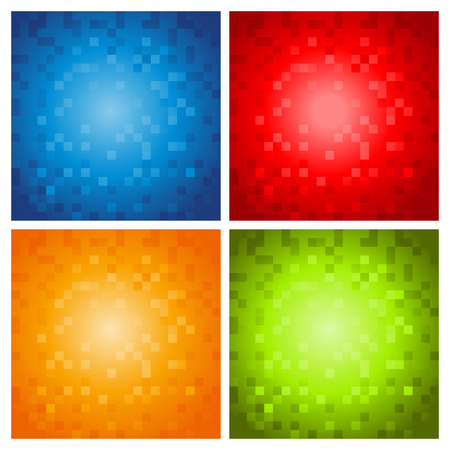 Colorful Pixel Backgrounds Vector