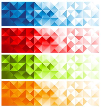 Colorful Mosaic Banners Ilustração