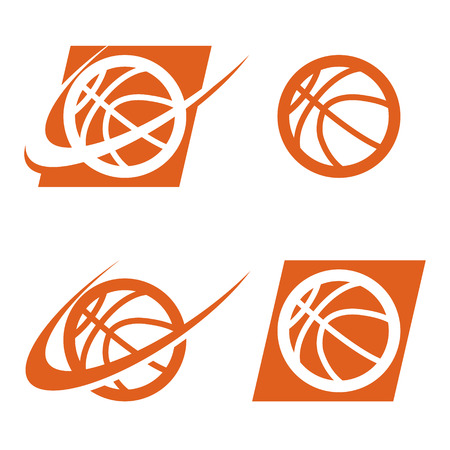 Set van basketbal logo pictogrammen