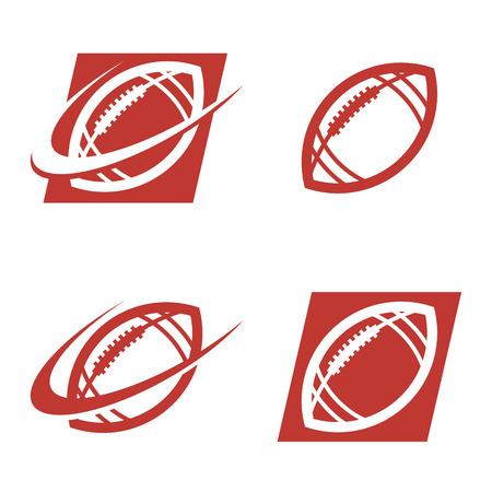 Set of American football logo icons Vettoriali