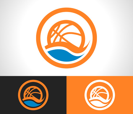 swoosh: basketball logo icon with swoosh graphic element
