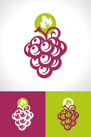 vectorrn: Grape and wine icon