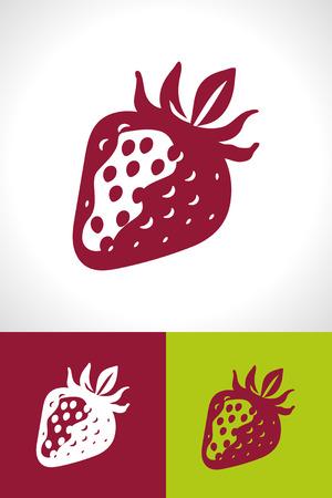 Simple stylised strawberry icon