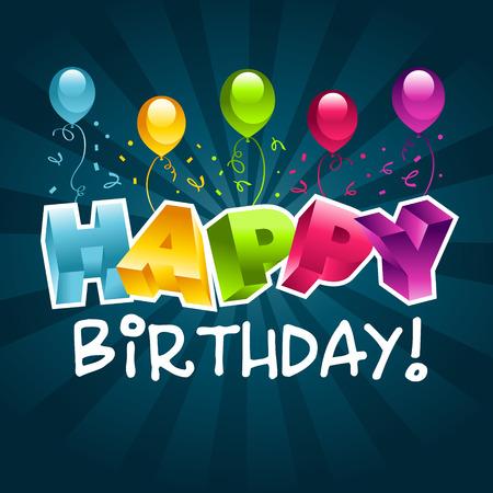 birthday greetings: Tarjeta de felicitaci�n de cumplea�os feliz