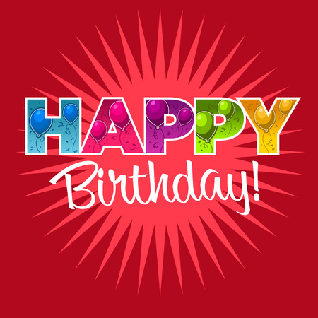 happy birthday text: Happy birthday greeting card