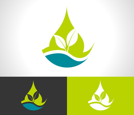 Green ecological logo with leaves